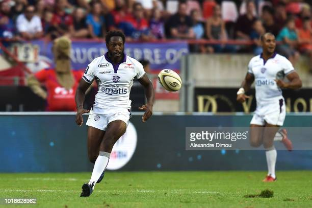 Pierre Lafitte of Soyaux during the French Pro D2 match between Beziers and Soyaux Angouleme on August 17 2018 in Beziers France