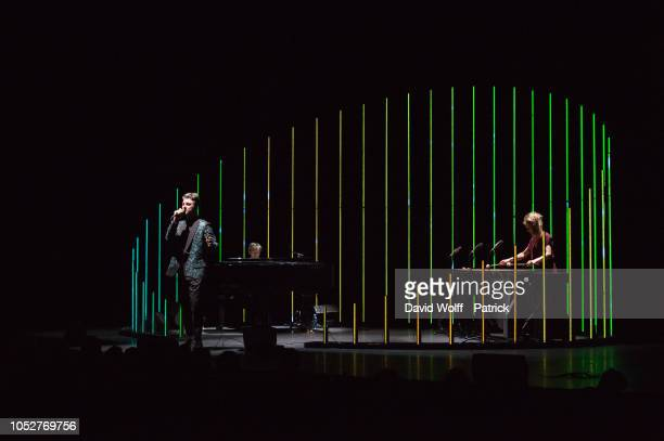 Pierre Lapointe performs at Salle Pleyel on October 22, 2018 in Paris, France.