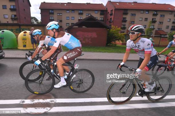 Pierre Latour of France and Team Ag2R La Mondiale / Alexandre Geniez of France and Team Ag2R La Mondiale / Valerio Conti of Italy and UAE Team...