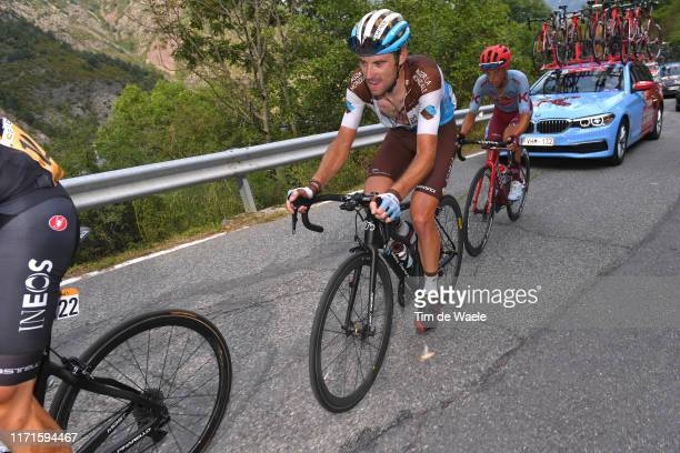 Pierre Latour of France and Team AG2R La Mondiale / Matteo Fabbro of Italy and Team Katusha-Alpecin / during the 74th Tour of Spain 2019, Stage 9 a...