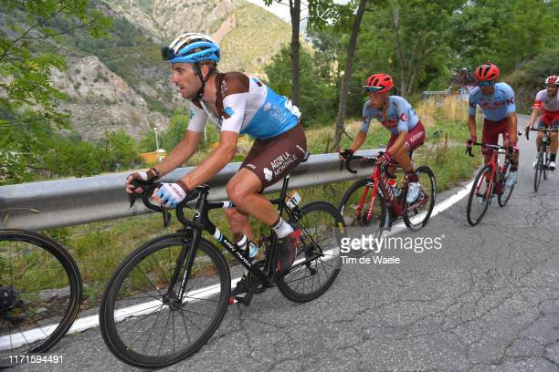 Pierre Latour of France and Team AG2R La Mondiale / Matteo Fabbro of Italy and Team Katusha-Alpecin / Ruben Guerreiro of Portugal and Team...