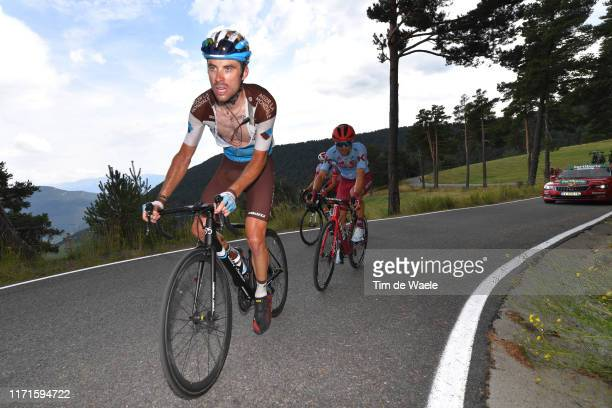 Pierre Latour of France and Team AG2R La Mondiale / Ruben Guerreiro of Portugal and Team Katusha-Alpecin / during the 74th Tour of Spain 2019, Stage...