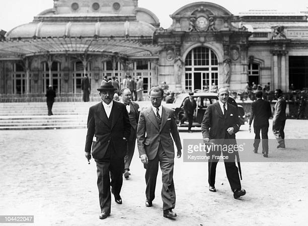 Pierre Laval Leaving The National Assembly Then Sheltered Within The Casino In Vichy On July 10 The Day Of The Vote On Petain'S Full Powers And The...