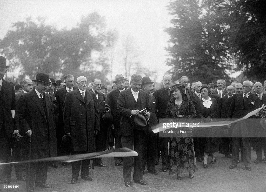 Inauguration d'un pont à Champigny : Photo d'actualité