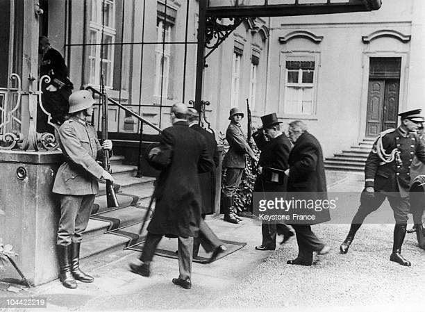 Pierre Laval Then Council President And The French Minister Of Foreign Affairs Aristide Briand Visited With President Hindenburg At His Palace In...