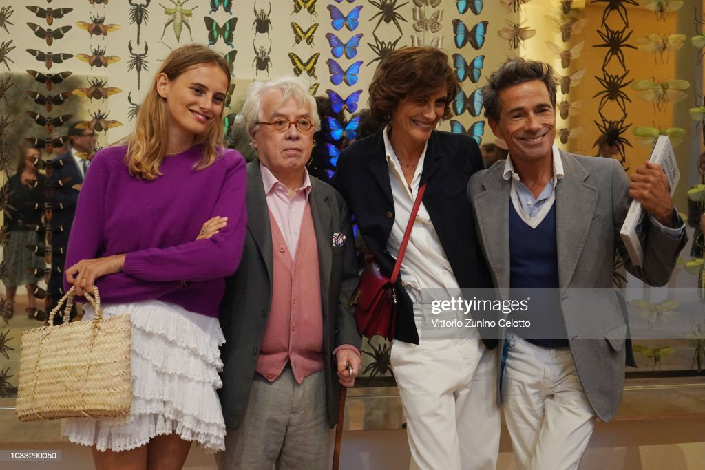 Pierre Le Tan and Ines de la Fressange attend The Kering Heritage Days Opening Night at 40 Rue de Sevres on September 14, 2018 in Paris, France.