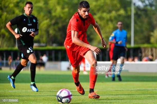 Pierre Lees Melou of Nice during the Friendly match between Saint Etienne and Nice on August 4, 2018 in Feurs, France.