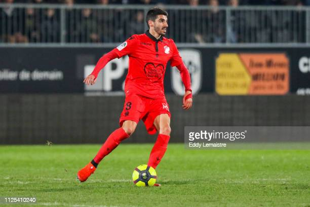 Pierre Lees-Melou of Nice during the Ligue 1 match between Angers and Nice on February 16, 2019 in Angers, France.