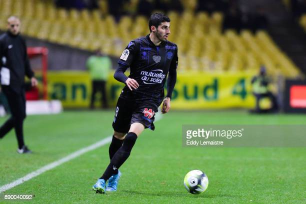Pierre LeesMelou of Nice during the Ligue 1 match between Nantes and OGC Nice at Stade de la Beaujoire on December 10, 2017 in Nantes, .