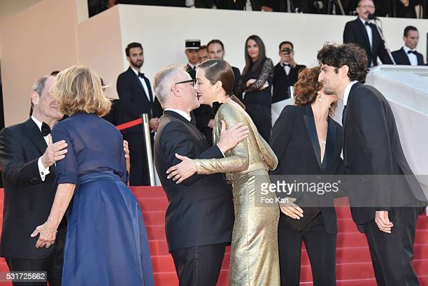Pierre Lescure, Actress Nicole Garcia, Thierry Fremaux, actress Marion Cotillard , Audrey Azoulay and actor Louis Garrel attend the 'From The Land Of...
