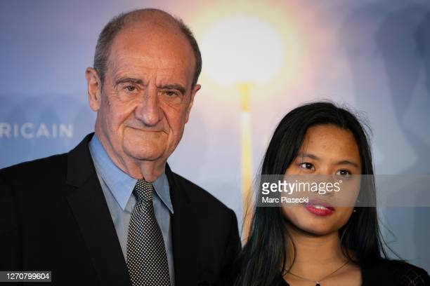 """Pierre Lescure and Anna Lescure attend the """"Pierre & Lescure"""" photocall at 46th Deauville American Film Festival on September 05, 2020 in Deauville,..."""
