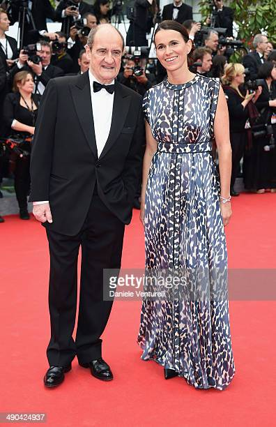 Pierre Lescure and French Minister of Cultural affairs Aurelie Filippetti attend the Opening Ceremony and the 'Grace of Monaco' premiere during the...