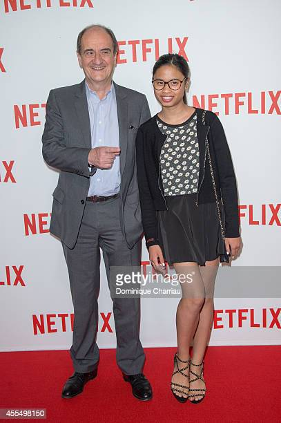Pierre Lescure and his daughter Anna attend the 'Netflix' Launch Party At Le Faust In Paris on September 15 2014 in Paris France