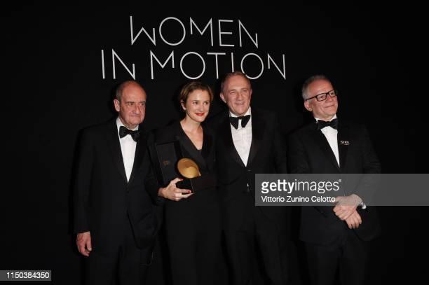 Pierre Lescure, Eva Trobisch, Francois-Henri Pinault and Thierry Fremaux attend Kering And Cannes Film Festival Official Dinner at Place de la Castre...