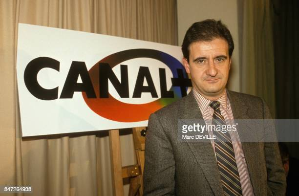Pierre Lescure managing director of Canal Plus television private channel on December 14 1989 in Paris France