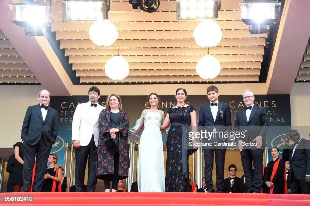 Pierre Lescure Un Certain Regard president Benicio Del Toro and jury members Julie Huntsinger Virginie Ledoyen Annemarie Jacir Kantemir Balagov and...
