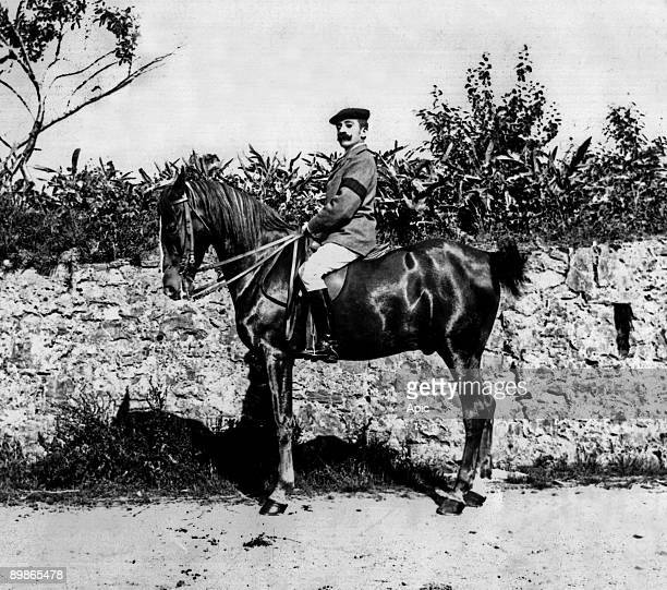 Pierre Loti french writer on horse c 1892 France