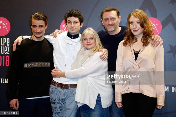 Pierre Lotin Theo Fernandez Isabelle Nanty JeanPaul Rouve and Sarah Stern attend 'Les Tuches 3 Liberte Egalite FraterniTuche' Premiere during the...