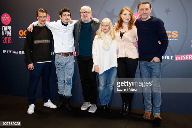 Pierre Lotin Theo Fernandez Olivier Baroux Isabelle Nanty JeanPaul Rouve and Sarah Stern attend 'Les Tuches 3 Liberte Egalite FraterniTuche' Premiere...