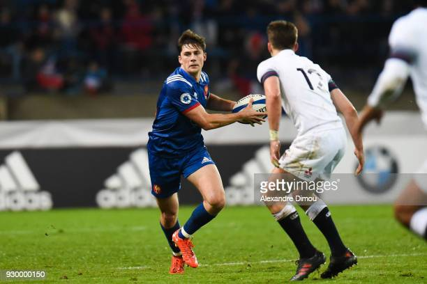 Pierre Louis Barassi of France during the RBS Six Nations match between France and England at Stade de la Mediterranee on March 9 2018 in Beziers...