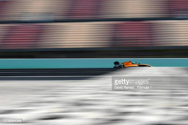Pierre Louis Chovet of France and Campos Racing drives during Day One of the Formula 3 Testing session at Circuit de Barcelona-Catalunya on October...