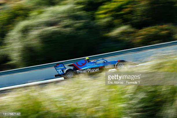Pierre Louis Chovet of France and Jenzer Motorsport drives at Circuito de Jerez on May 12, 2021 in Jerez de la Frontera, Spain.