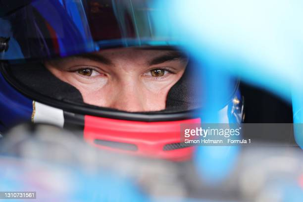 Pierre Louis Chovet of France and Jenzer Motorsport prepares to drive during Day Two of Formula 3 Testing at Red Bull Ring on April 04, 2021 in...
