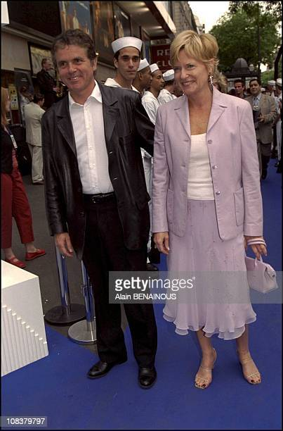 Pierre Luc Seguillon and Catherine Ceylac in Paris France on June 05 2001