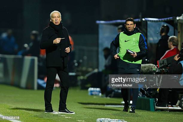 Pierre Mankowski of France during the Uefa U21 European Championship qualifier between France and Scotland at Stade Jean Bouin on March 24 2016 in...