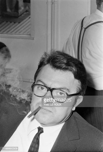 Pierre Mauroy au siège du Parti Socialiste à Paris le 17 juillet 1969, France.