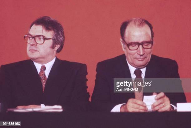 Pierre Mauroy et François Mitterrand circa 1970 France