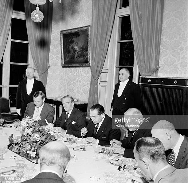 Pierre Mendes France At The Geneva Conference Juillet 1954 portrait de Pierre MENDES FRANCE président du Conseil de 1954 à 1955 lors de la conférence...