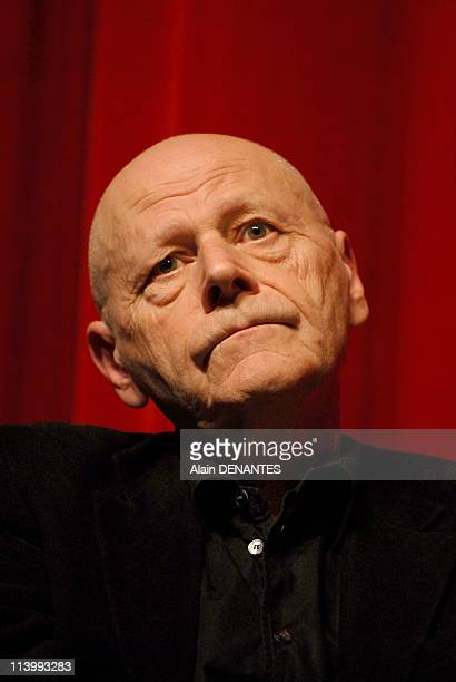 Pierre Michon author laureate of Grand Prix of romance of the French Academy In Nantes France On January 10 2008Portrait of Pierre Michon french...