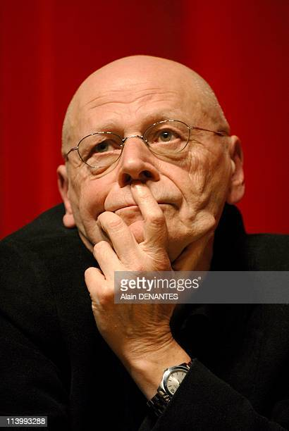 Pierre Michon, author, laureate of Grand Prix of romance of the French Academy In Nantes, France On January 10, 2008-Portrait of Pierre Michon,...