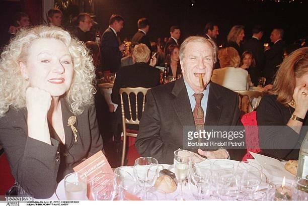Pierre Mondy and Maaike Jansen at L'Amateur de Cigares Gala At The Pavillion Ledoyen In Paris
