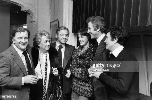 Pierre Mondy Jacqueline Maillan JeanPierre Darras Annie Duperey Jacques Chazot et Robert Hirsh à la Comédie Française le 19 mars 1979 à Paris France