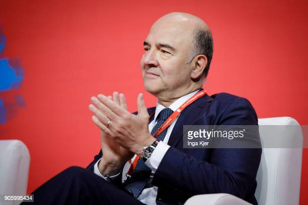 Pierre Moscovici EU Commissioner for Economic and Financial Affairs Taxation and Customs in the course of the PES party congress on December 02 2017...
