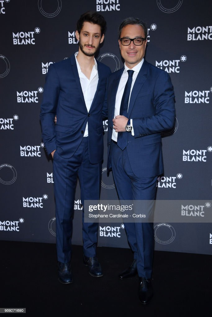 Pierre Niney and CEO of Montblanc Nicolas Baretzki attend as Montblanc launch new collection and dinner hosted by Charlotte Casiraghi during the 71st annual Cannes Film Festival at Villa la Favorite on May 16, 2018 in Cannes, France.