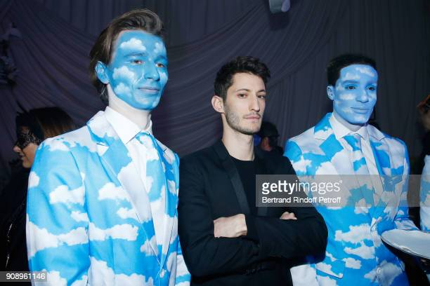 Pierre Niney attends Le Bal Surrealiste Dior during Haute Couture Spring Summer 2018 show as part of Paris Fashion Week on January 22 2018 in Paris...