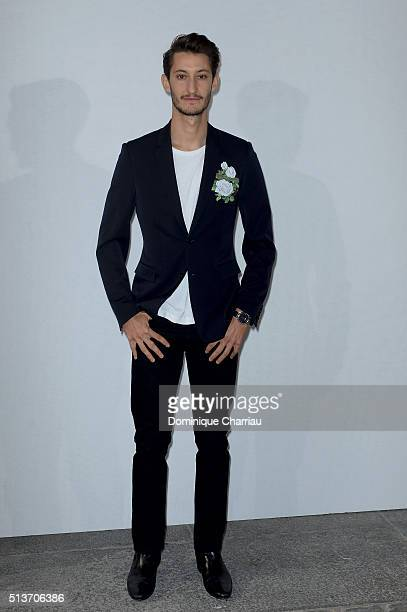 Pierre Niney attends the Christian Dior show as part of the Paris Fashion Week Womenswear Fall/Winter 2016/2017 on March 4 2016 in Paris France