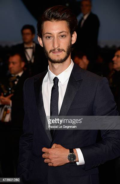 Pierre Niney attends the Premiere of 'Inside Out' during the 68th annual Cannes Film Festival on May 18 2015 in Cannes France
