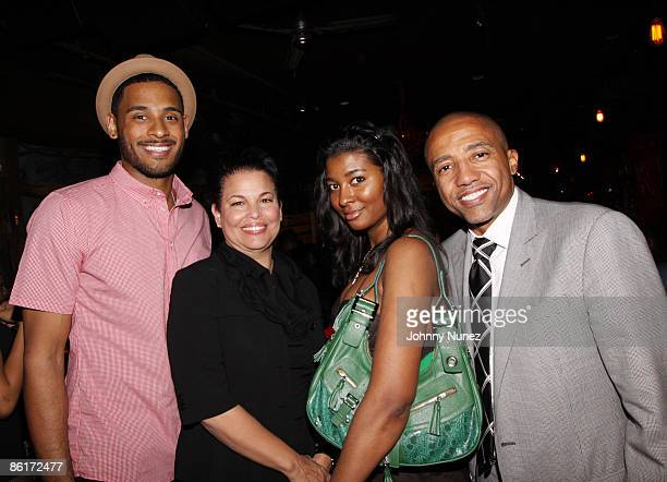 Pierre of Harlem Heights Debra Lee Briana of harlem Heights and Kevin Liles attend Terrence J's birthday party at Retreat on April 21 2009 in New...