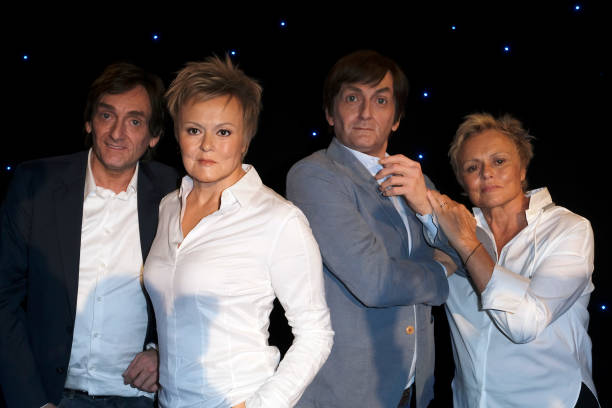 FRA: Muriel Robin And Pierre Palmade's  Wax Figure Unveiling At Musee Grevin In Paris