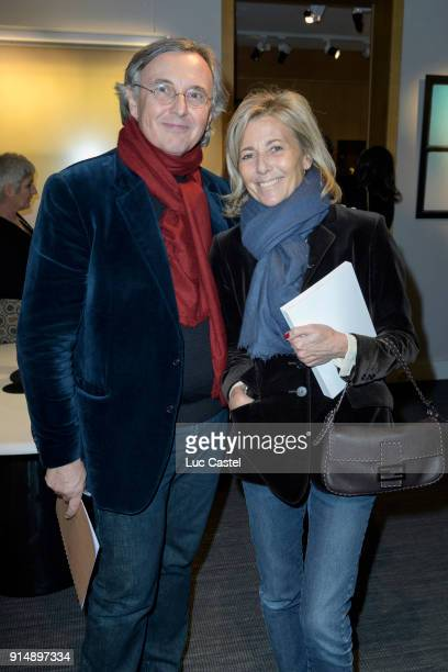 Pierre Passebon and Claire Chazal attend the presentation of the Cahier N°3 of the philosophical meetings of Monaco on January 25 2018 in Paris France