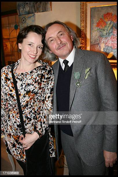 Pierre Passebon and daughter Nathalie at Pierre Passebon Is Honoured With The Rank Of Chevalier Des Arts Et Lettres At His Galerie Du Passage In Paris