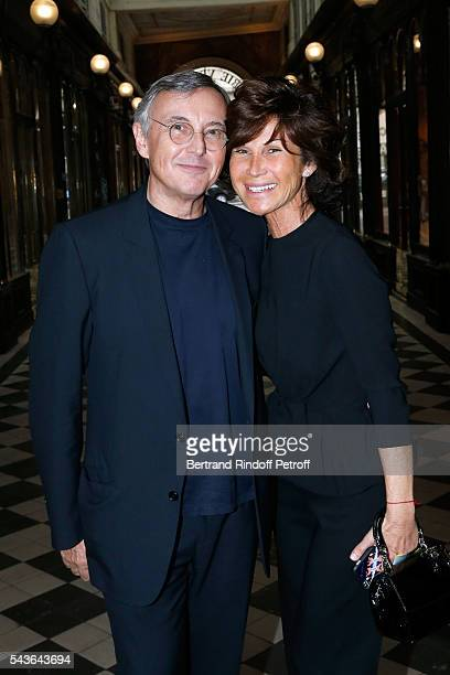Pierre Passebon and Director of Dior shop Sylvie Rousseau attend the Private View of 'Francoise Sagan Photographer' Photo Exhibition at Galerie...