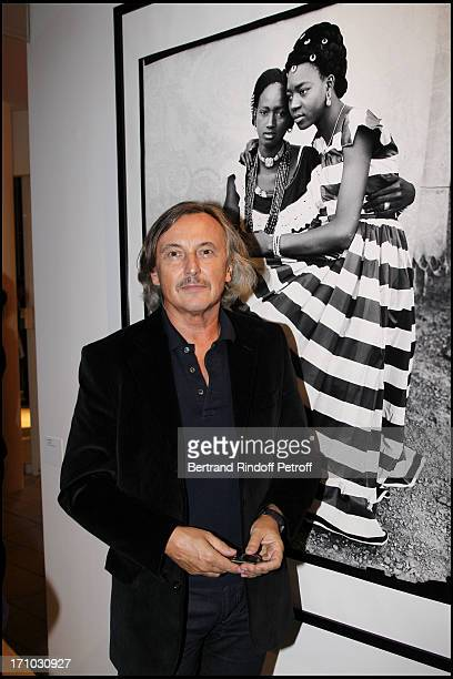 Pierre Passebon at Every Journey Began In Africa Party For The Exhibition Africa Rising And The Discovery Of The Collaboration Between Edun And Louis...
