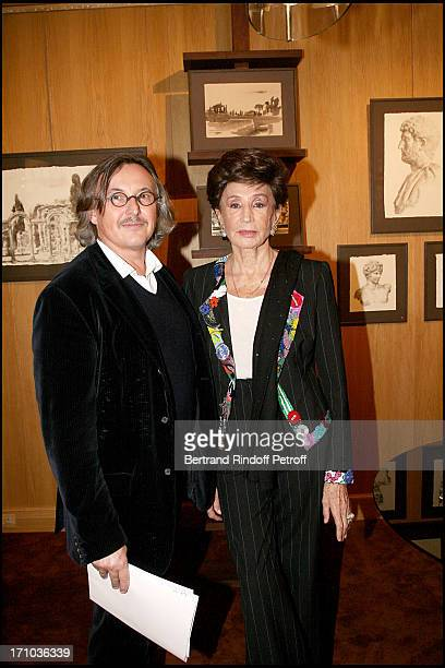 Pierre Passebon Comtesse Jacqueline De Ribes at The Joint Private Function Of Wendy Artin And Marina Cicogna At La Galerie Du Passage Pierre Passebon...