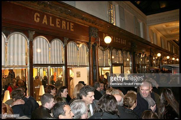 Pierre Passebon Is Honoured With The Rank Of Chevalier Des Arts Et Lettres At His Galerie Du Passage In Paris