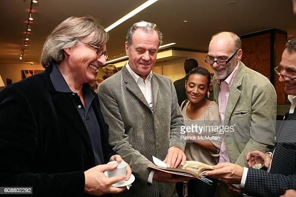 Pierre Passebon Jacques Grange Sophie Fonseca and Patrice Dangel attend HIGH TEA FOR THE PREMIERE OF GALERIE MARK HOSTED BY ALEXICO GROUP JACQUES...
